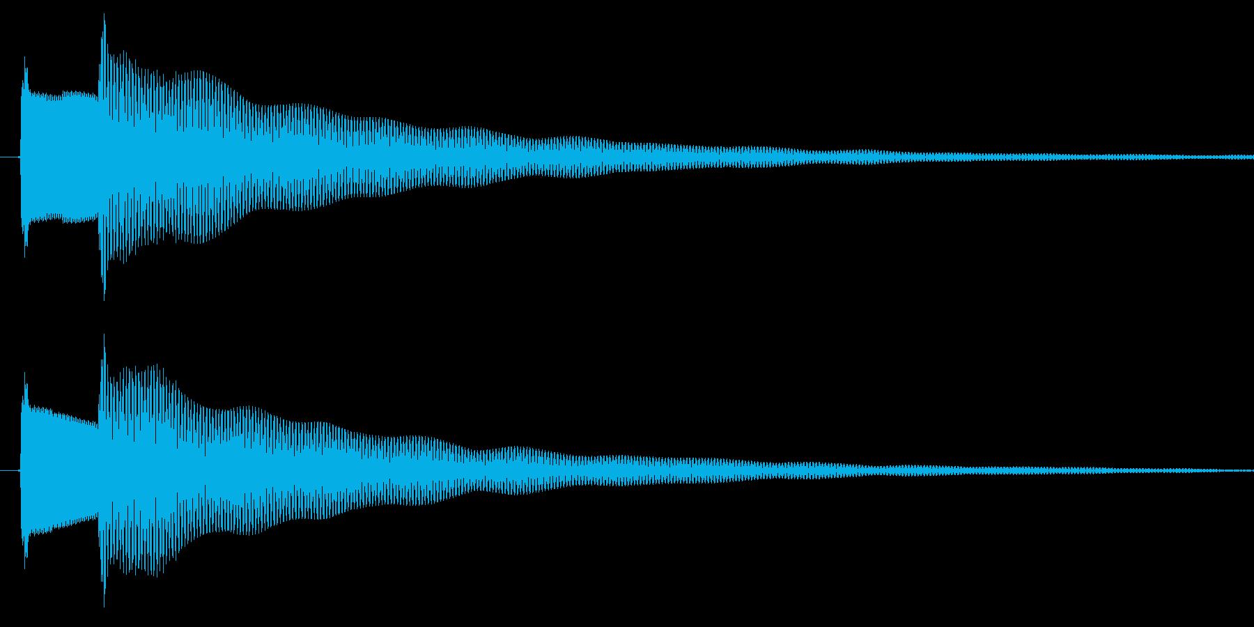 ゲームの決定音ですの再生済みの波形