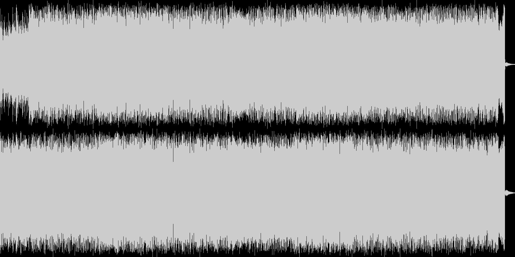 ディストーションギターとシンセのロックの未再生の波形