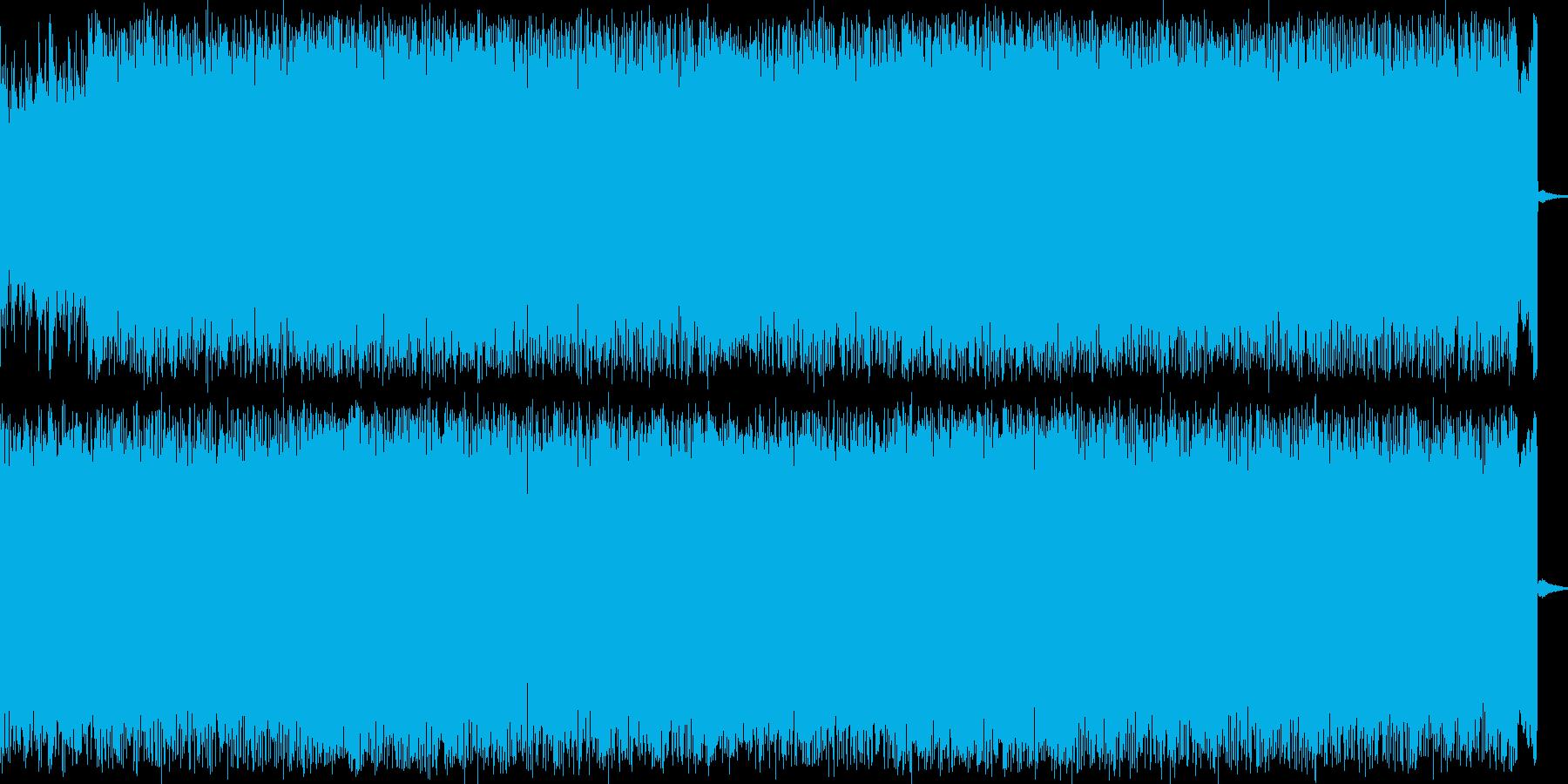 ディストーションギターとシンセのロックの再生済みの波形