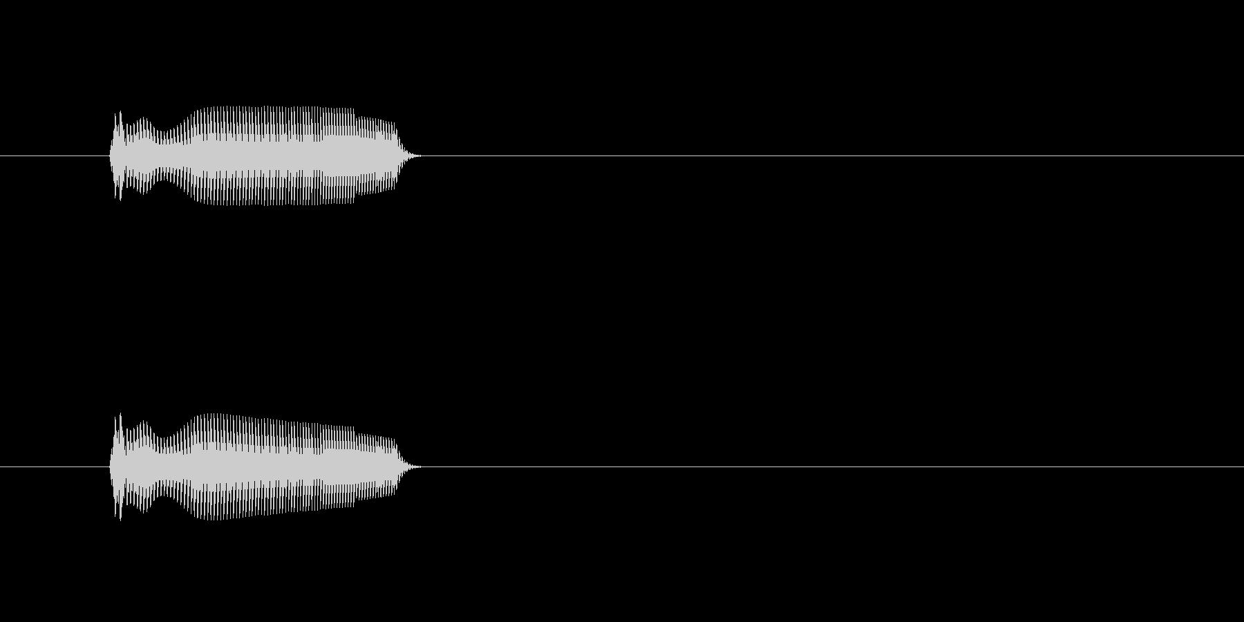 コミカルSEの未再生の波形