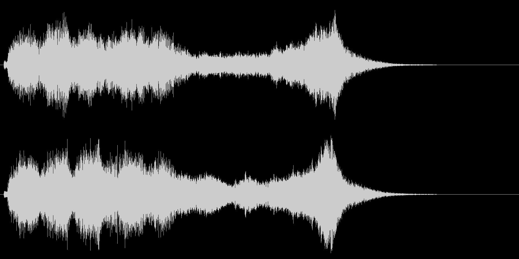 華やかで明るいファンファーレ1の未再生の波形