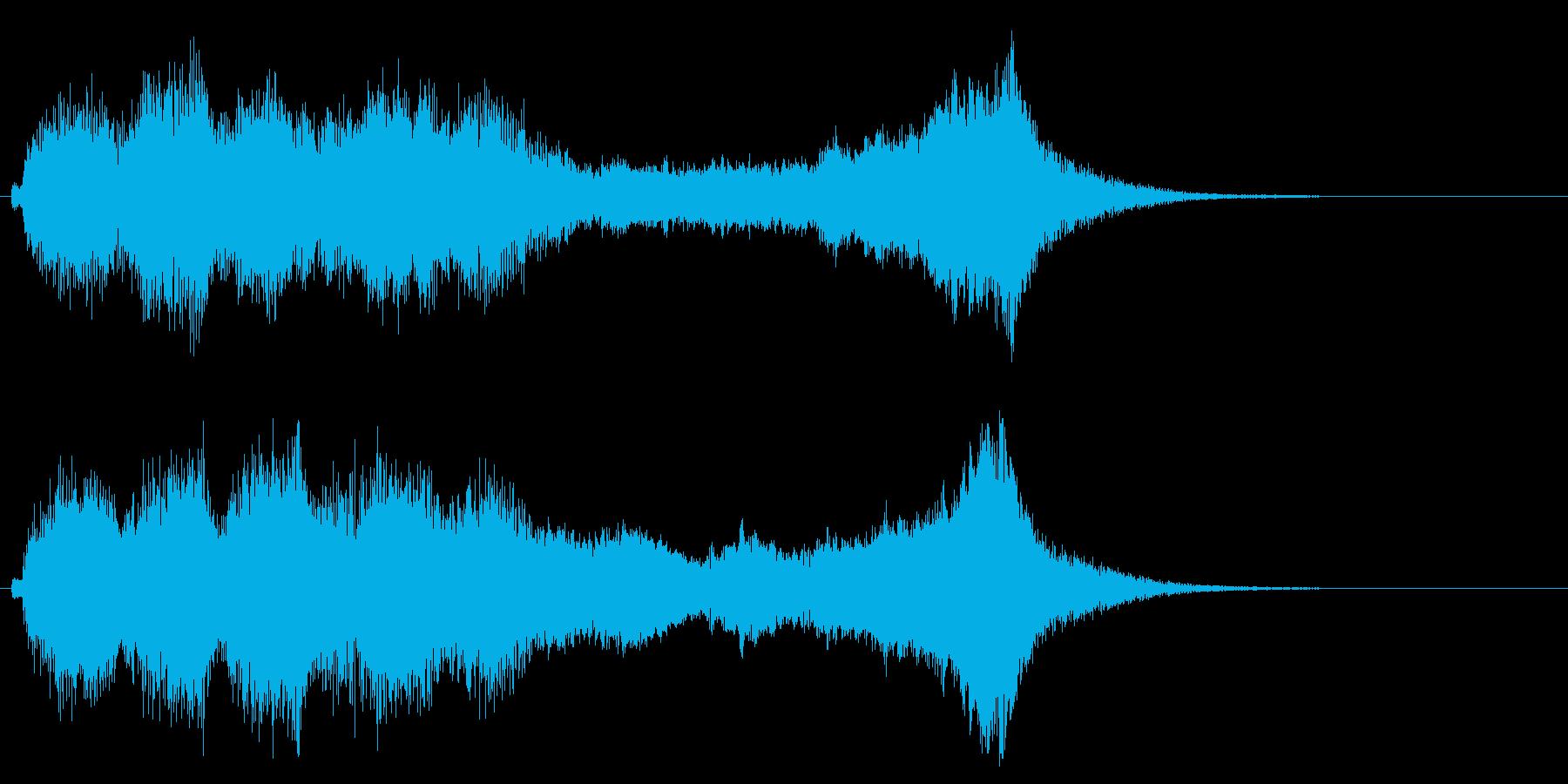 華やかで明るいファンファーレ1の再生済みの波形