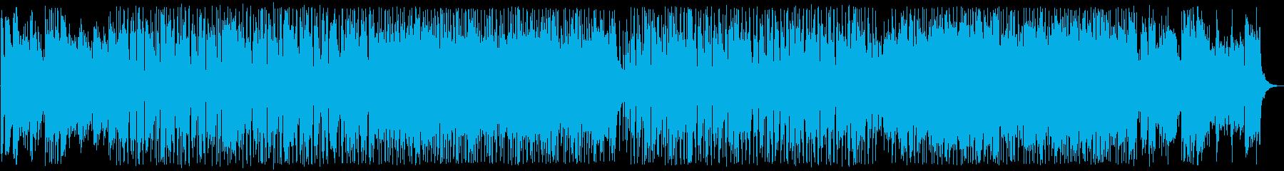 爽やかで涼しげなシンセサウンドの再生済みの波形