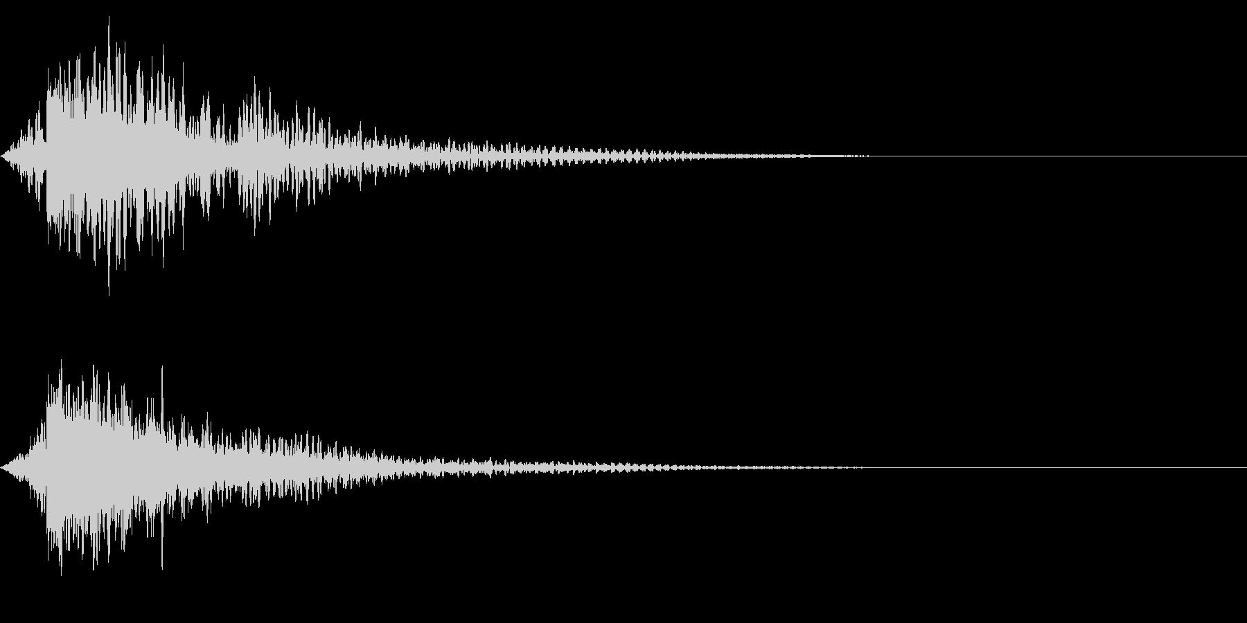 ホラー系アタック音98の未再生の波形
