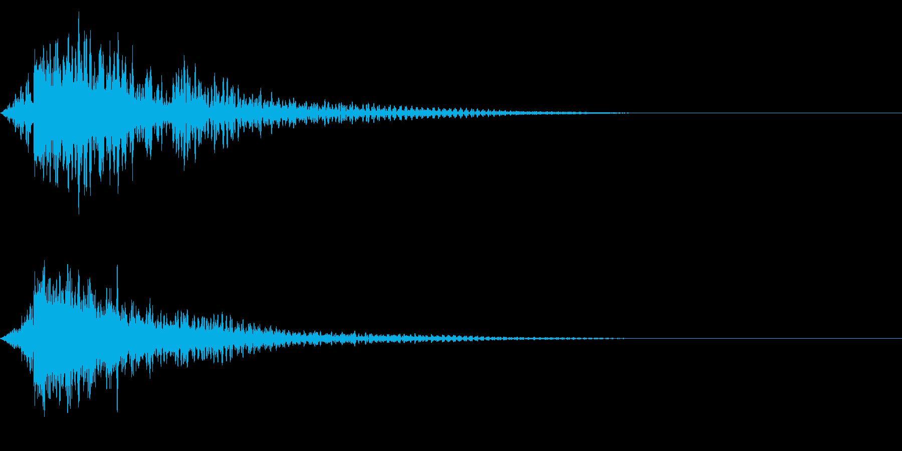 ホラー系アタック音98の再生済みの波形