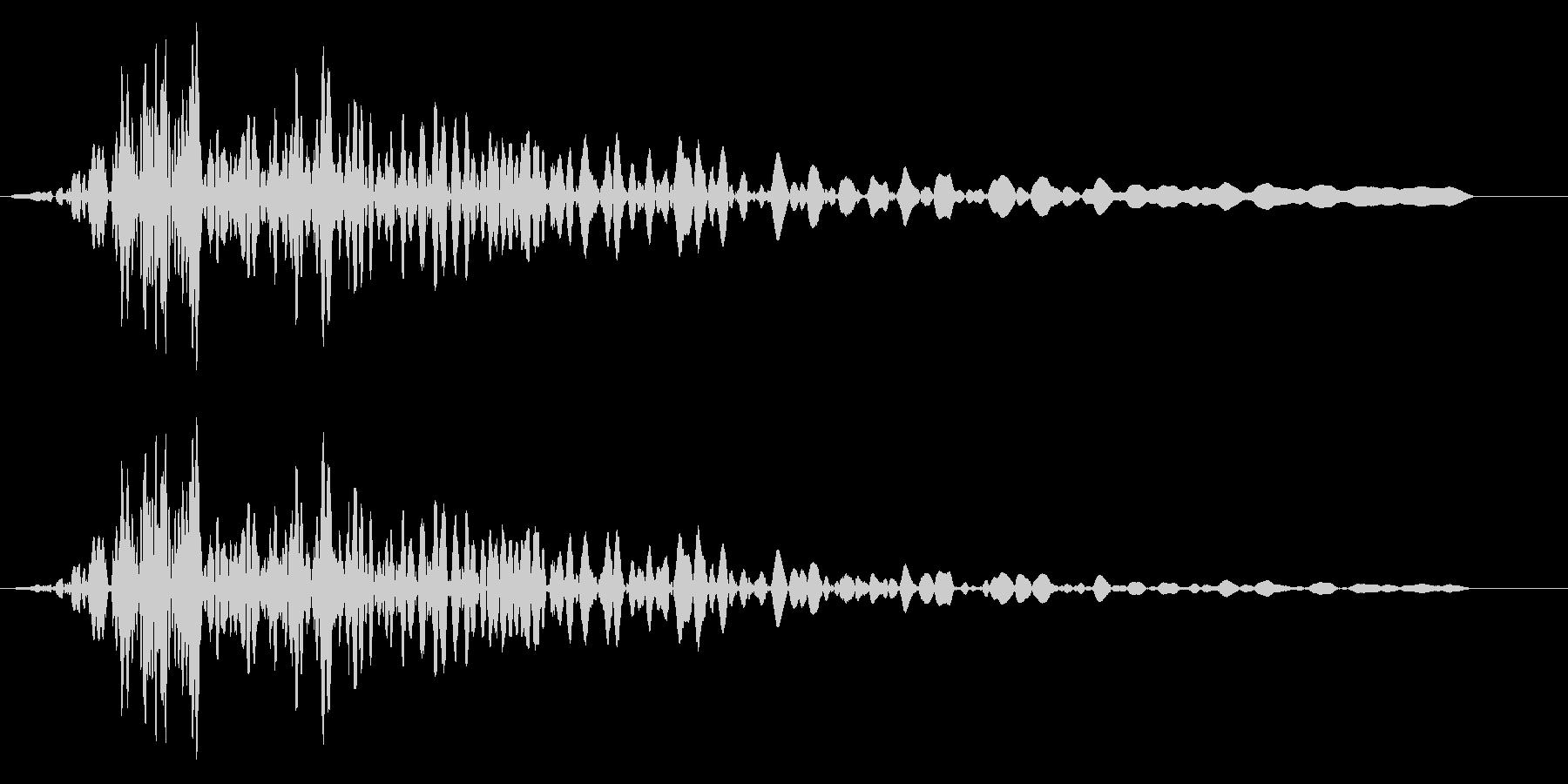 ブォー(巨人の低いため息)の未再生の波形