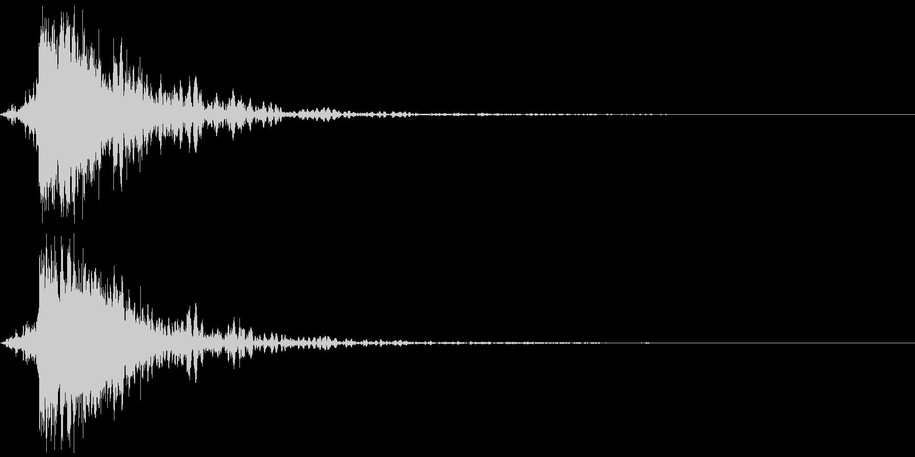 ガキーン 派手な金属音4-3の未再生の波形
