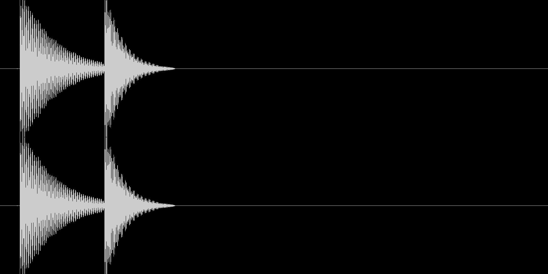 ポコ(ポコン)汎用的なタッチ、クリック音の未再生の波形