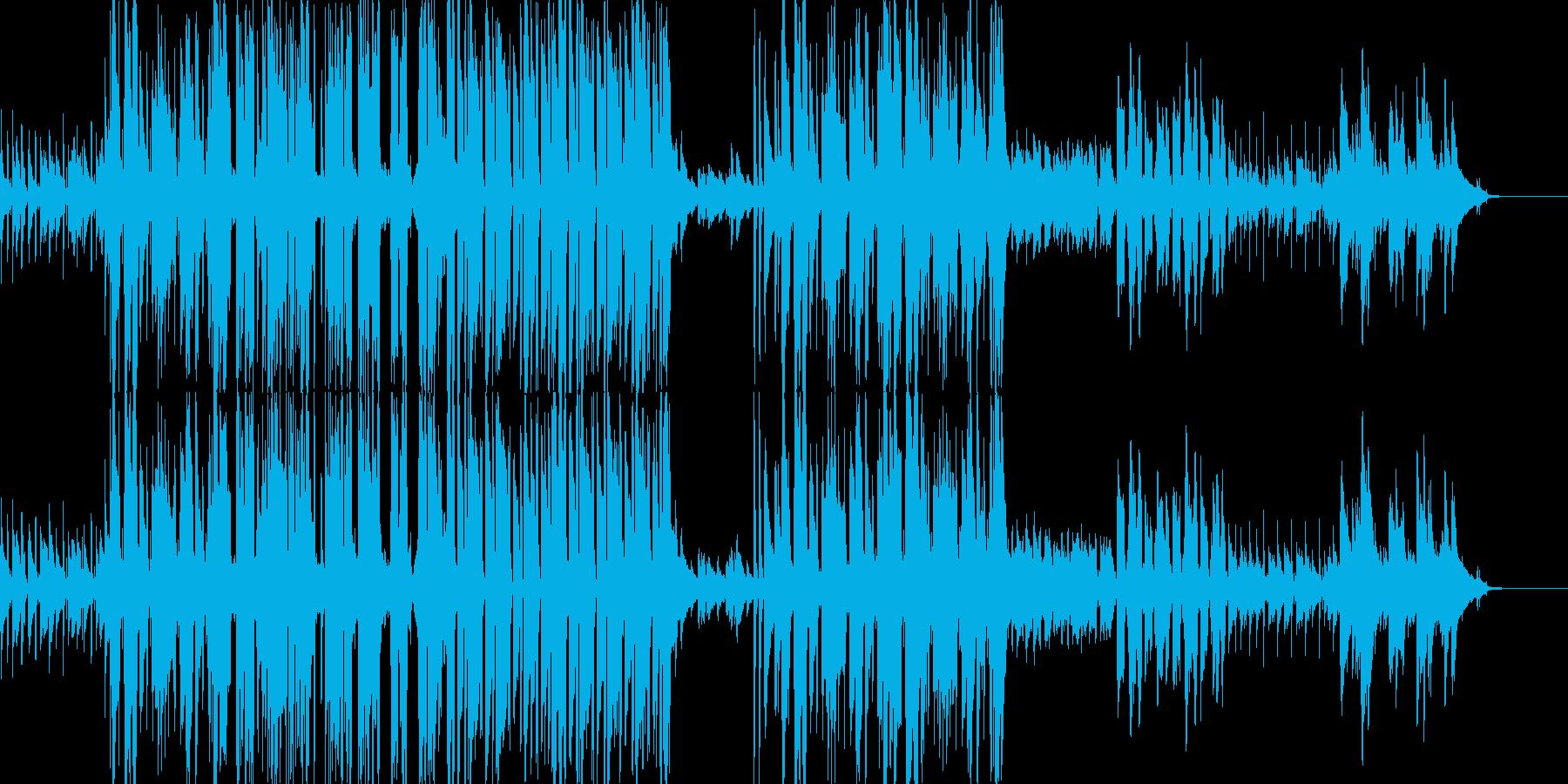 ほのぼの楽しい雰囲気の楽曲の再生済みの波形