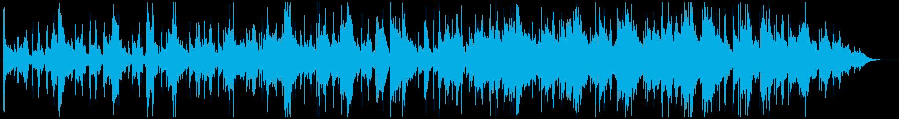 ホラー系BGMの再生済みの波形