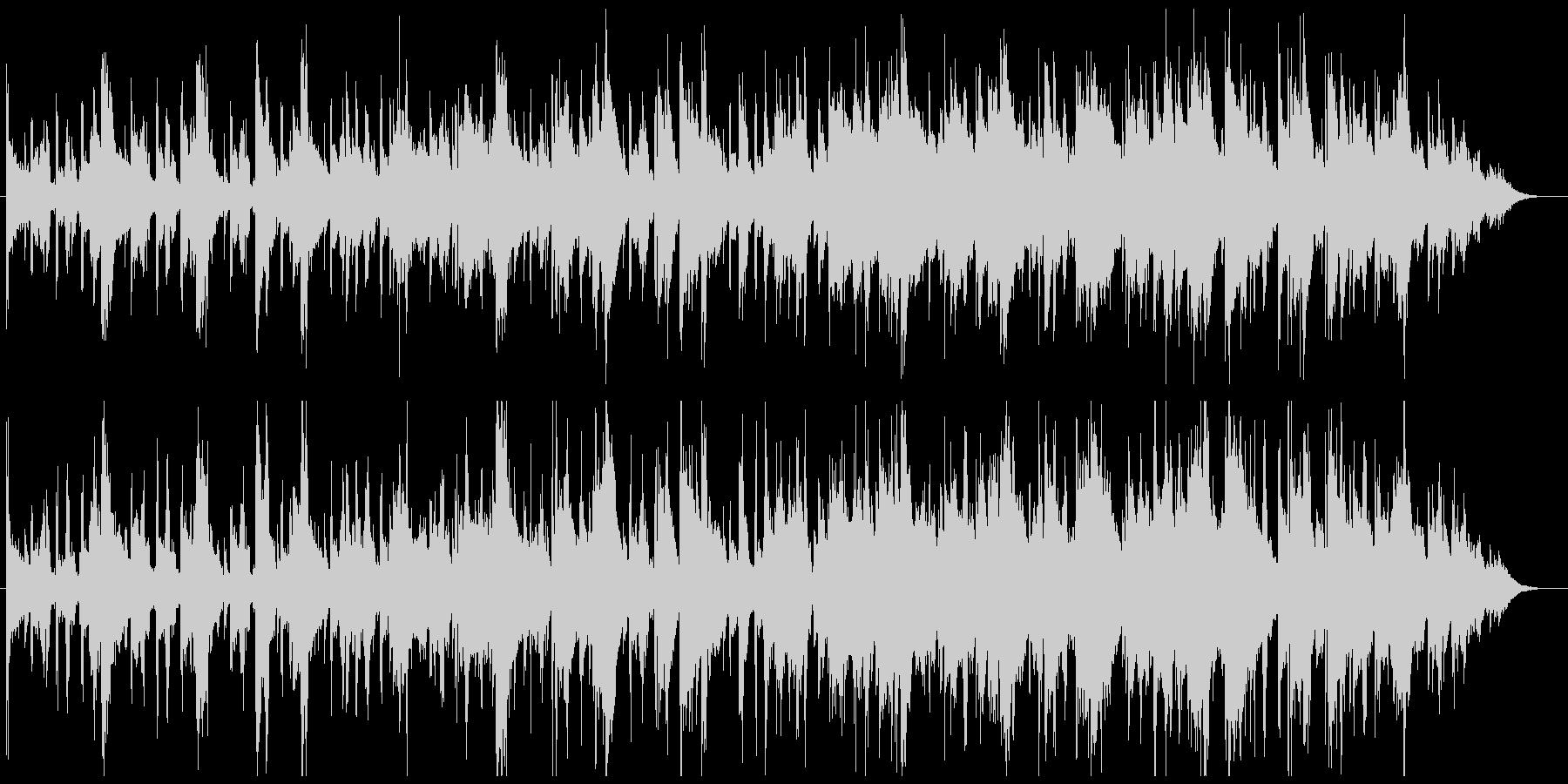 ホラー系BGMの未再生の波形