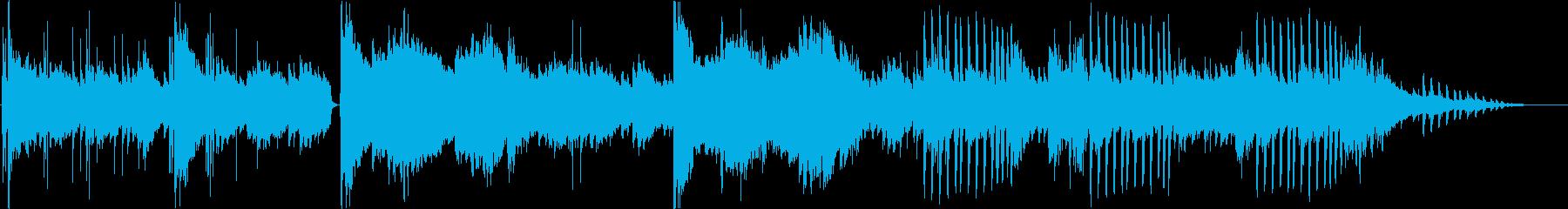 自然、森の中にいるようなBGMの再生済みの波形