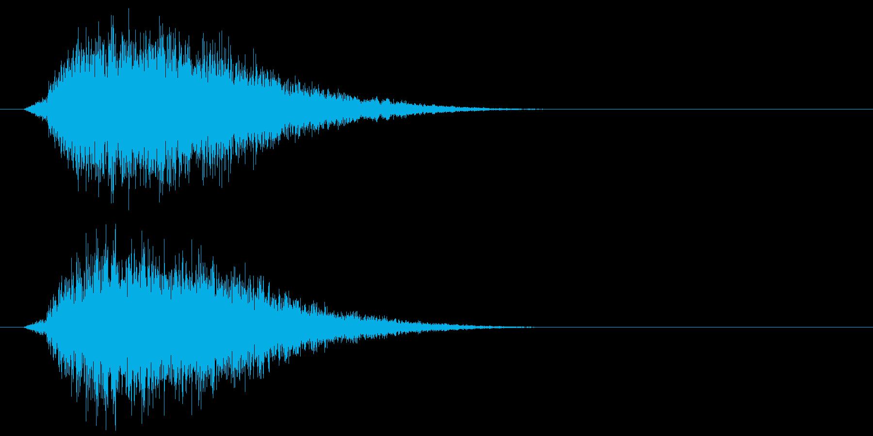 シャキーン!剣や刀、ロボット系の効果音1の再生済みの波形