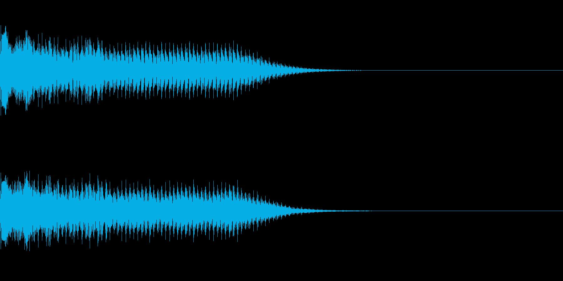 レーザービームの再生済みの波形