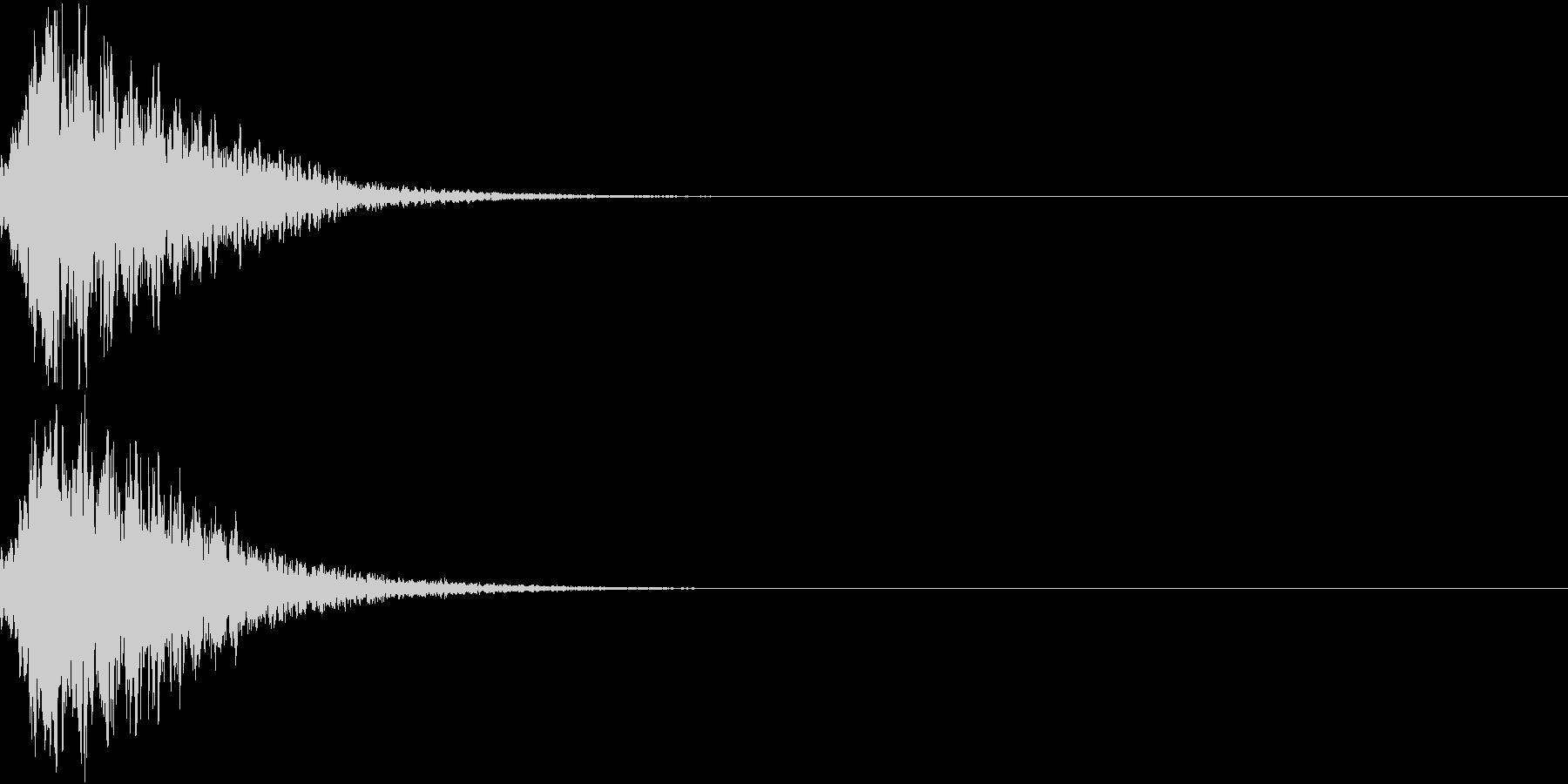 キュイン 光 ピカーン フラッシュ 13の未再生の波形