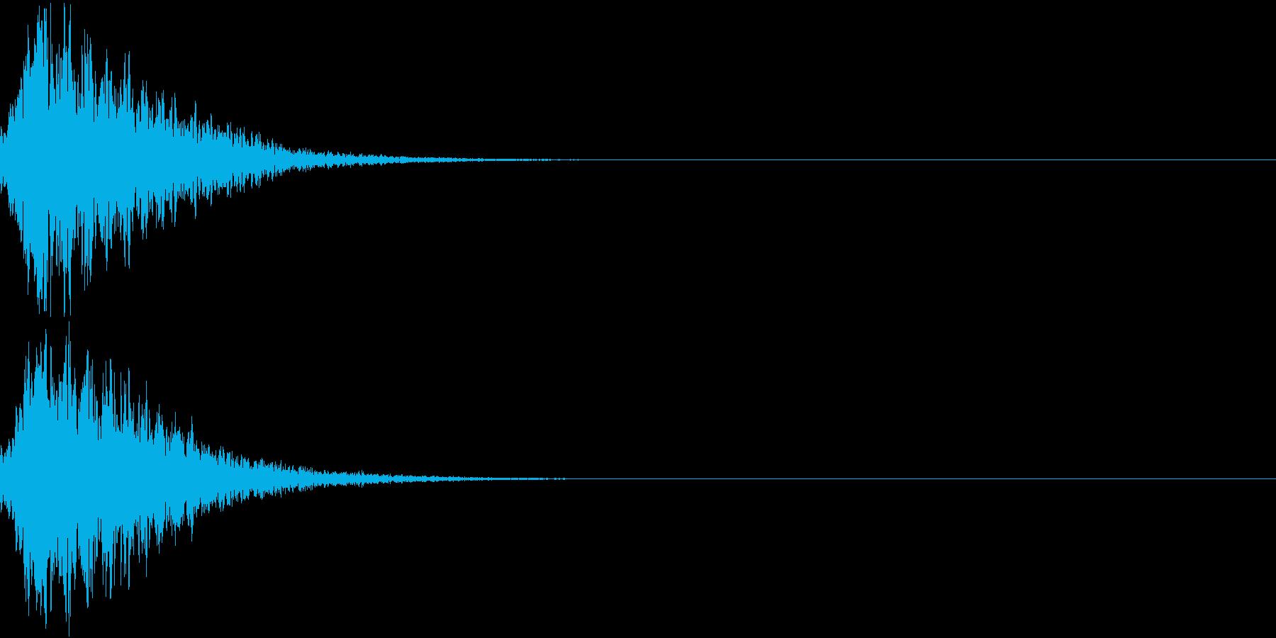 キュイン 光 ピカーン フラッシュ 13の再生済みの波形