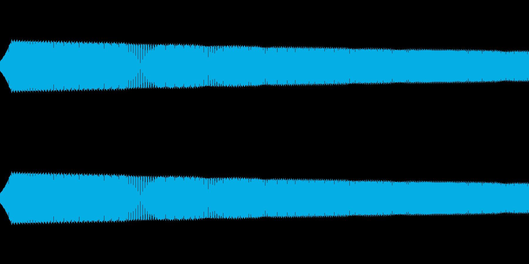 ピョイ:ゲームのジャンプ音の再生済みの波形