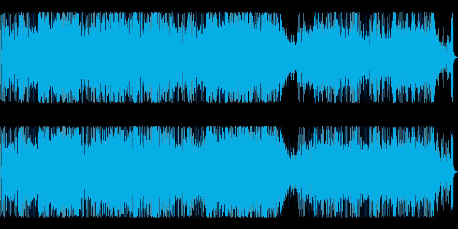 摩天楼・夜景・16ビート・フュージョンの再生済みの波形