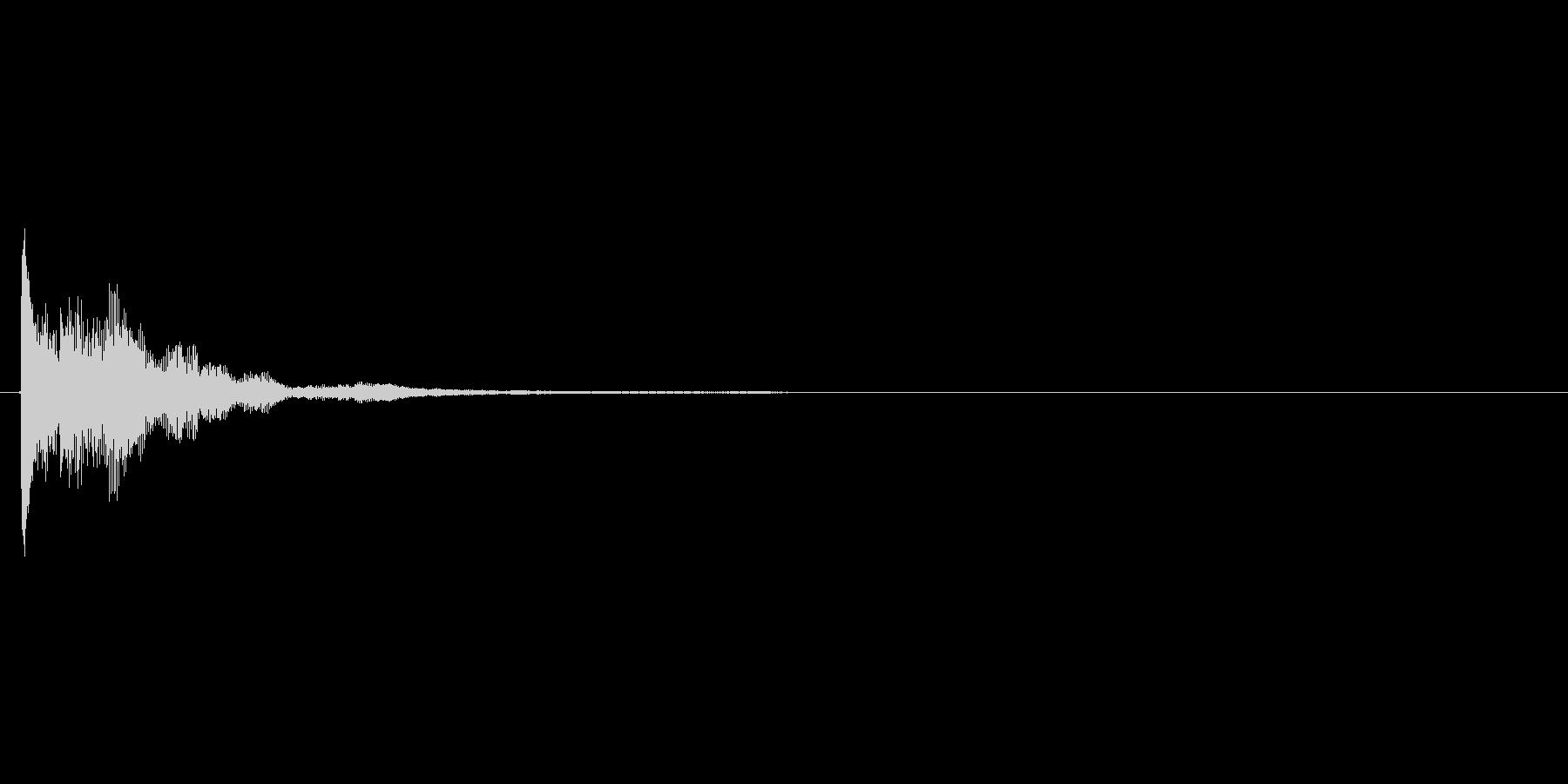 気付くようなカートゥーン系効果音の未再生の波形