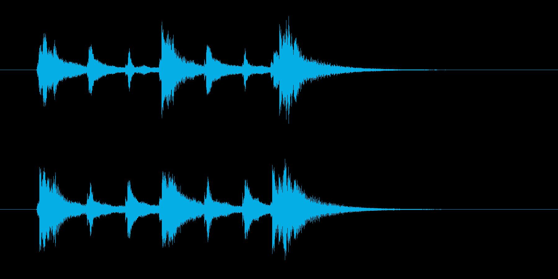 チャンチャンチャン、チャーンの再生済みの波形