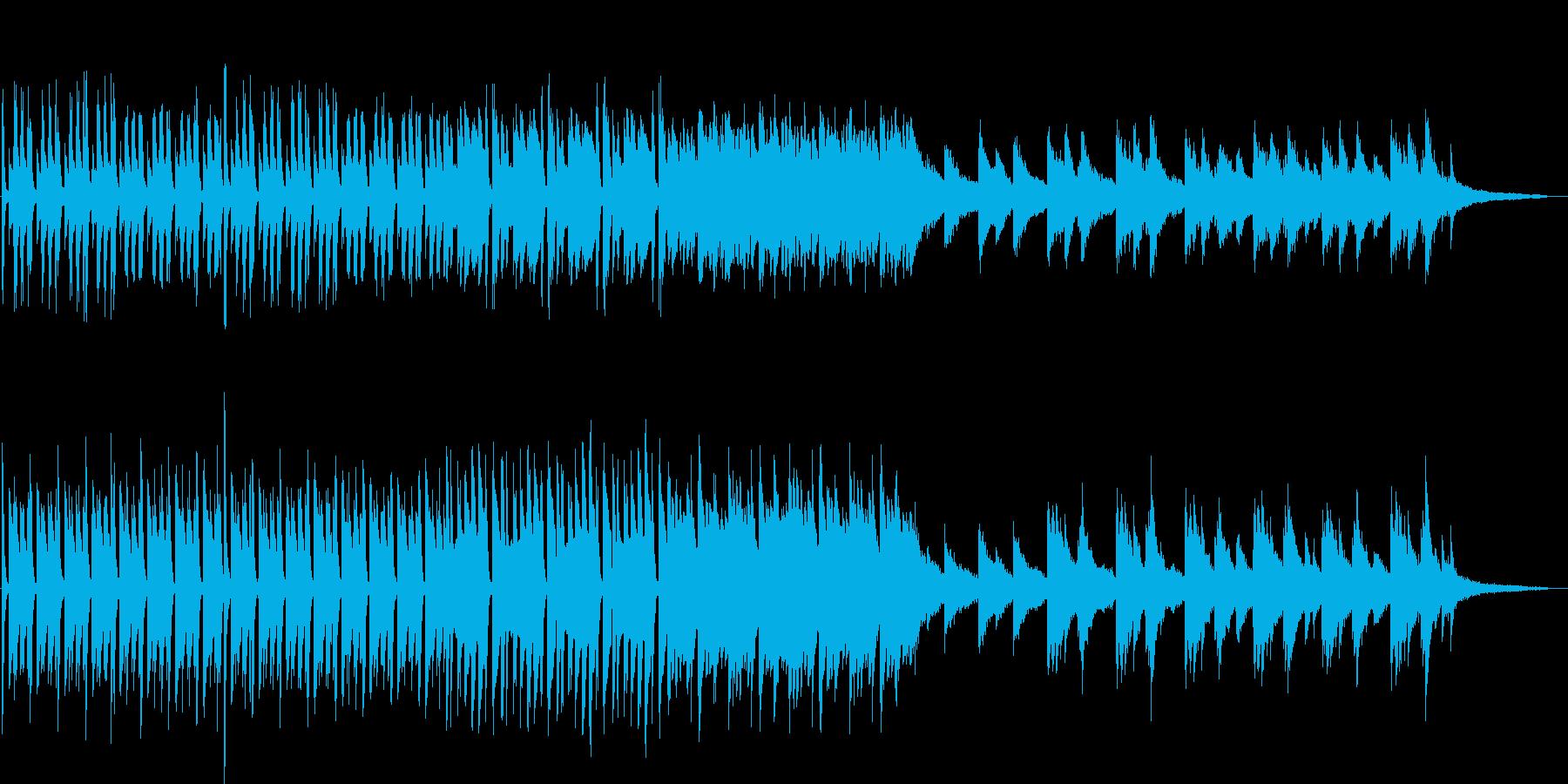 日常系の少しおしゃれで幻想的なピアノ曲の再生済みの波形