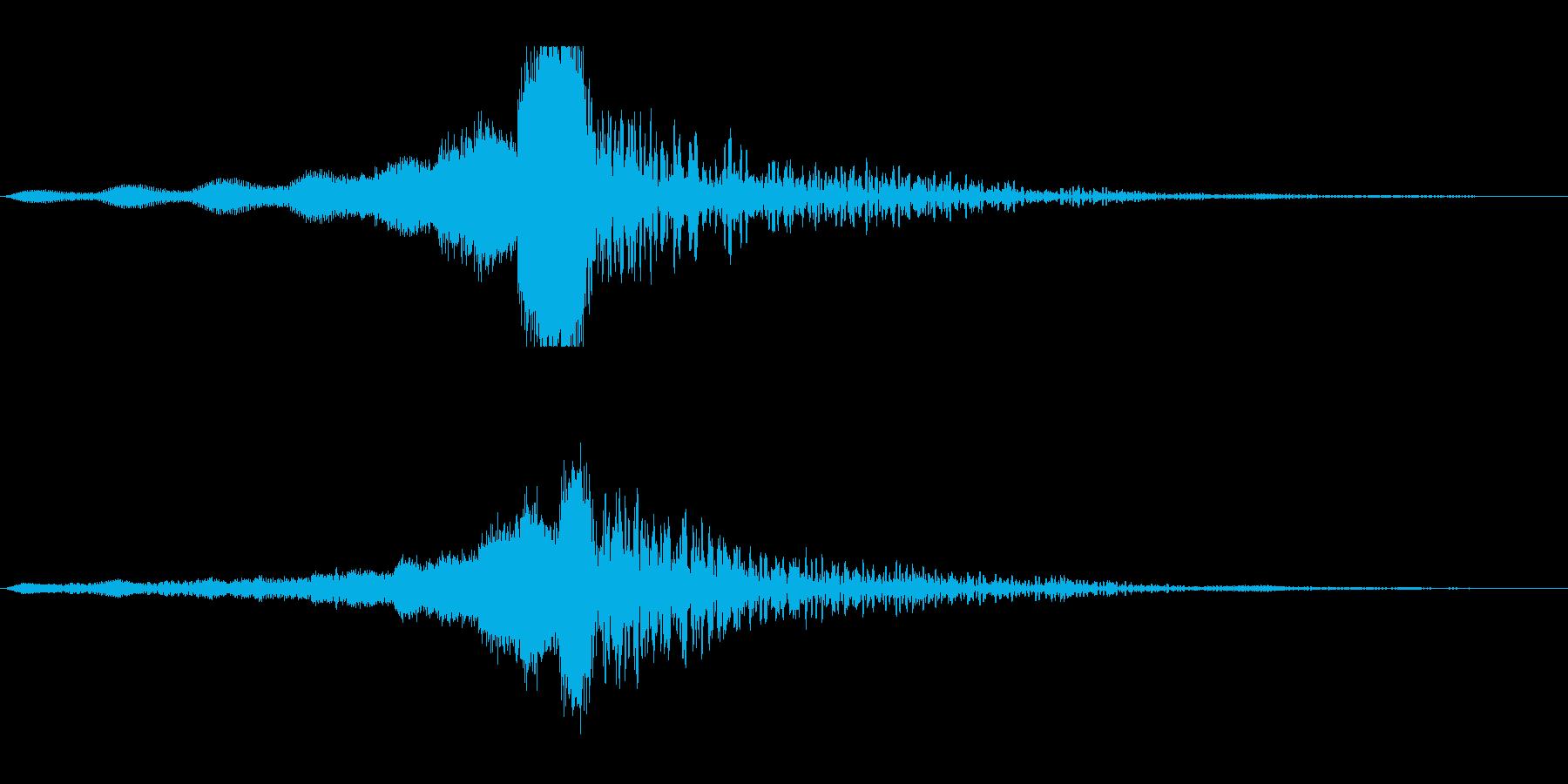 ホラー系アタック音103の再生済みの波形