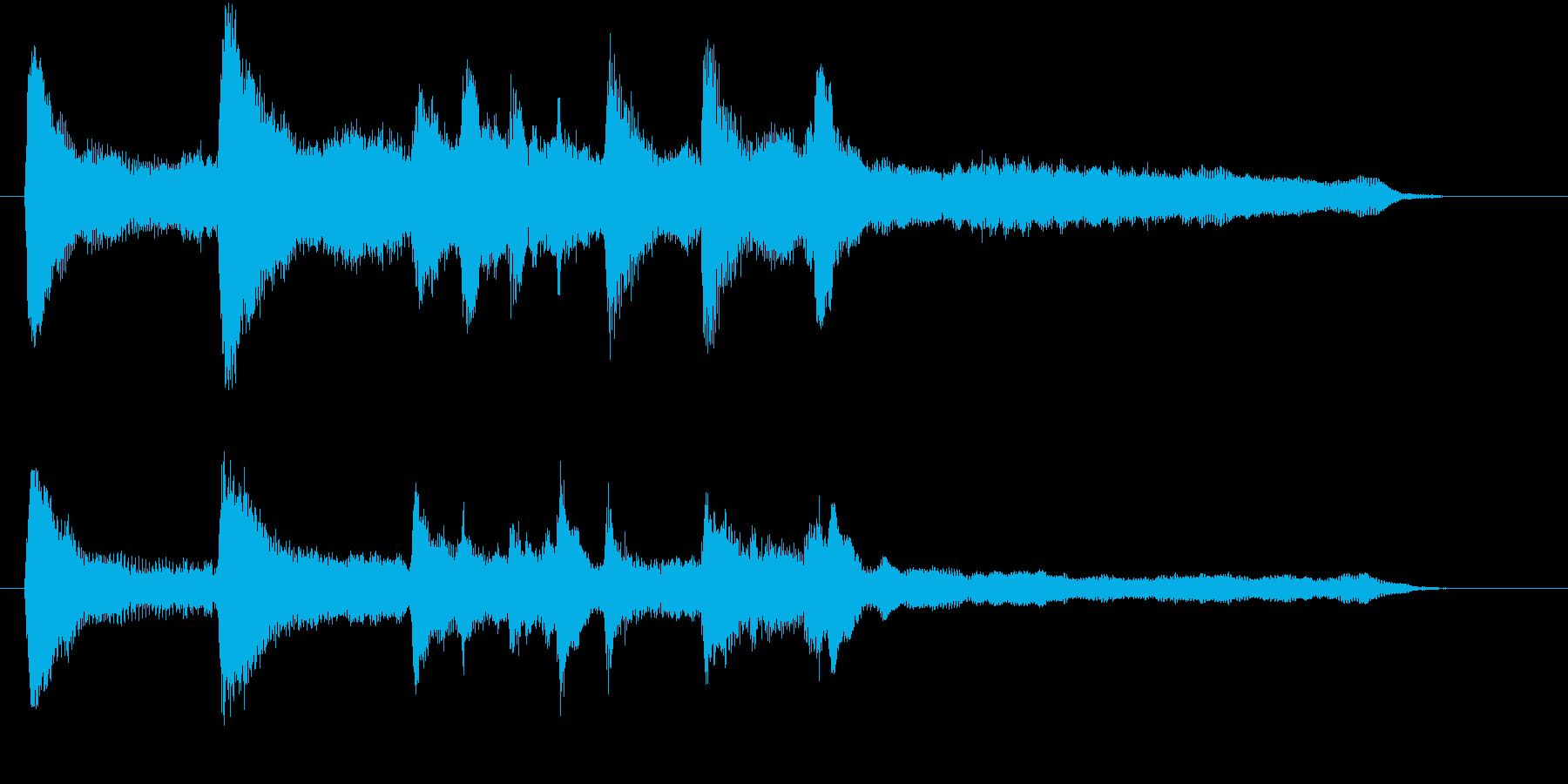 上品で美しいピアノ&ストリングスのロゴの再生済みの波形