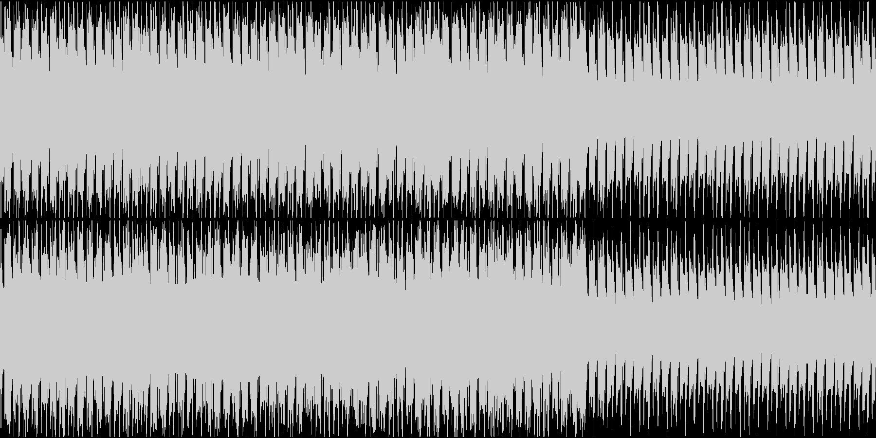 浮遊感のあるトランスBGMの未再生の波形