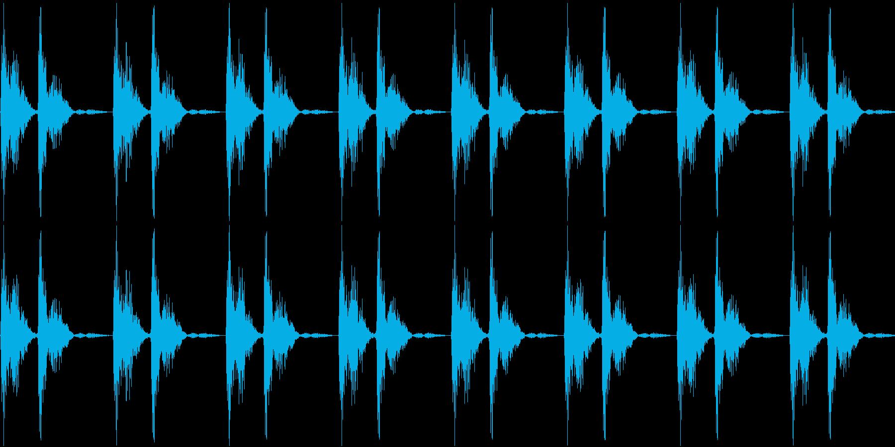 電車・汽車・揺れる音・ガタンゴトンの再生済みの波形