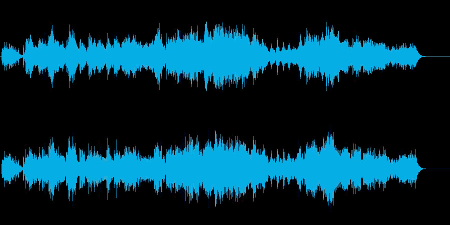 オーロラが浮かび上がる幻想的なBG/環境の再生済みの波形