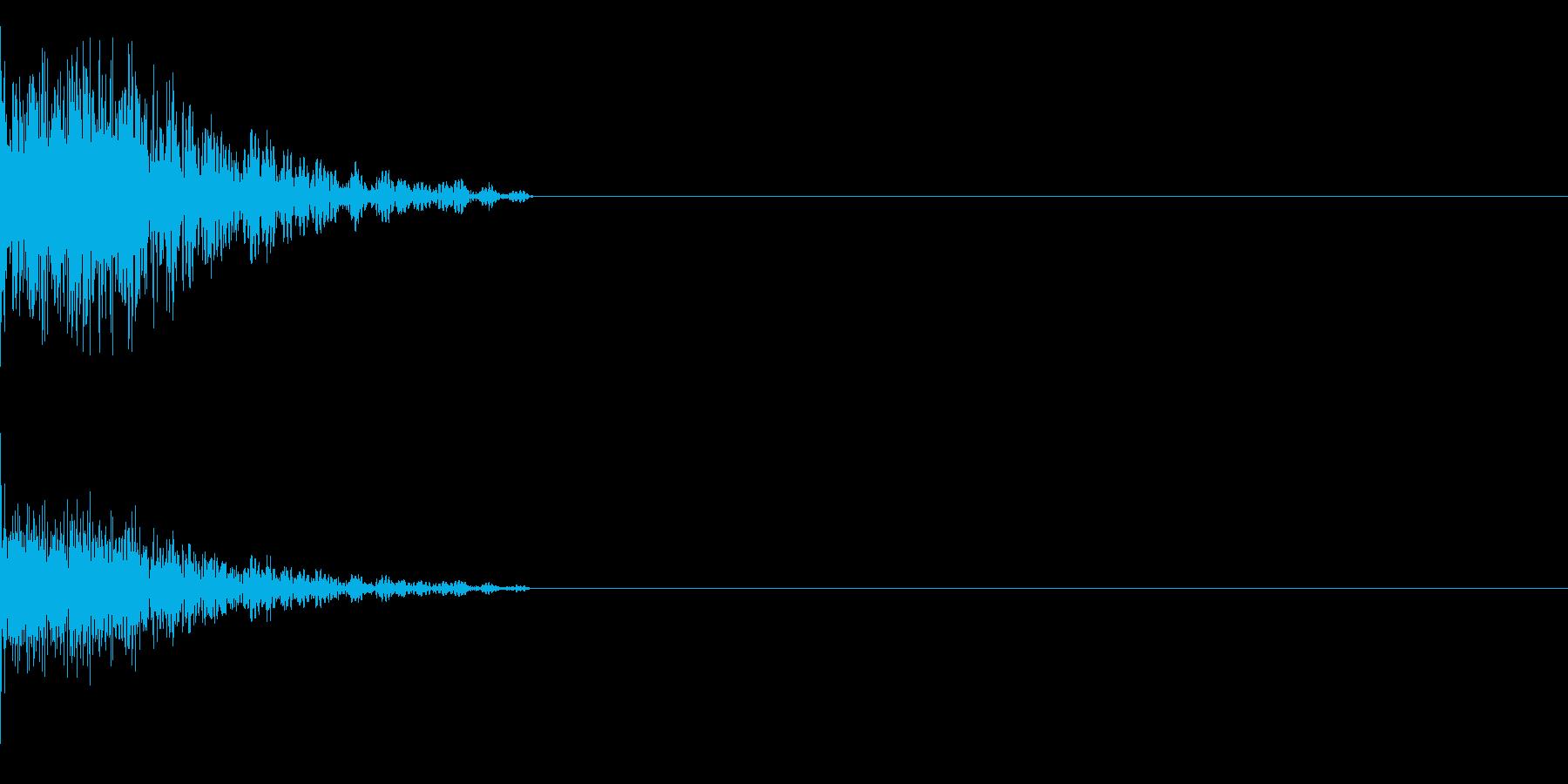 ガーンの再生済みの波形