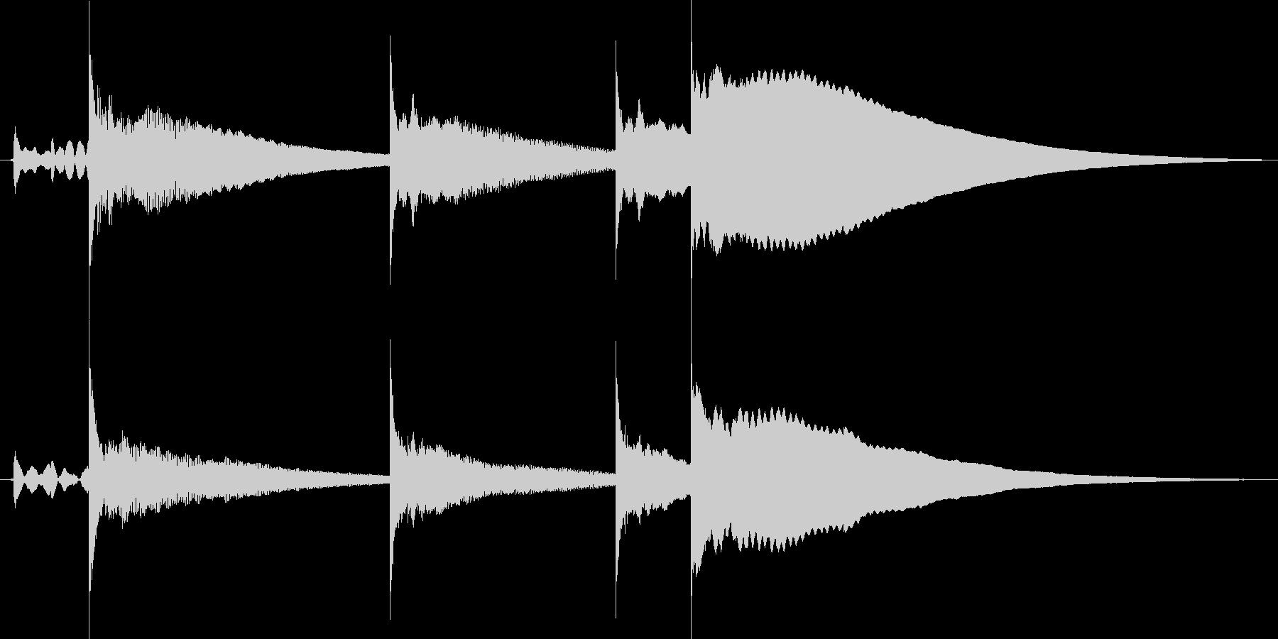 コロコロ飛び跳ねるサウンドロゴの未再生の波形