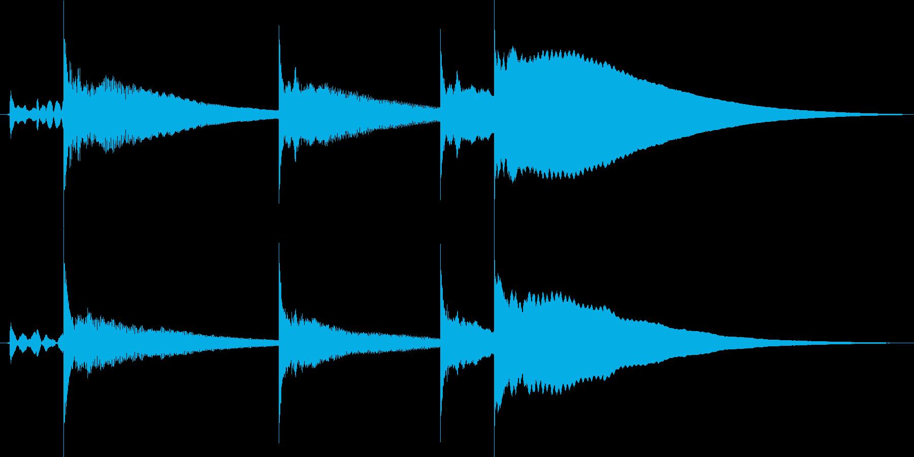 コロコロ飛び跳ねるサウンドロゴの再生済みの波形