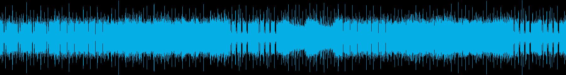 緊迫感のある少しダークな楽曲です。の再生済みの波形