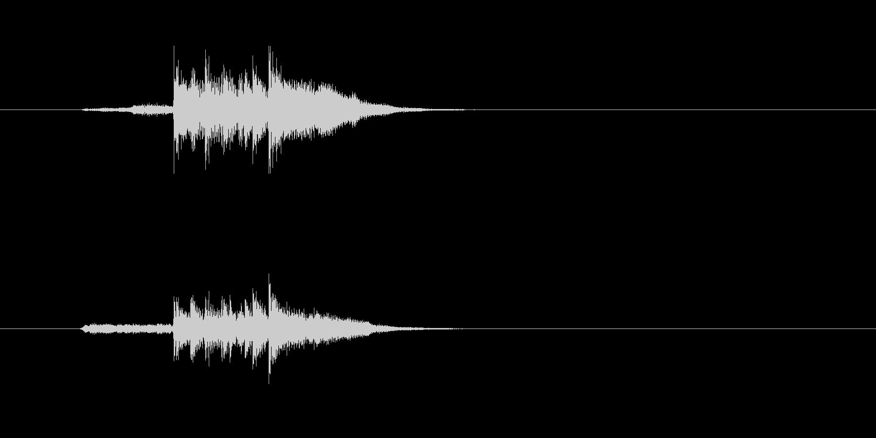 シンセサイザー ホラー ストリングスの未再生の波形