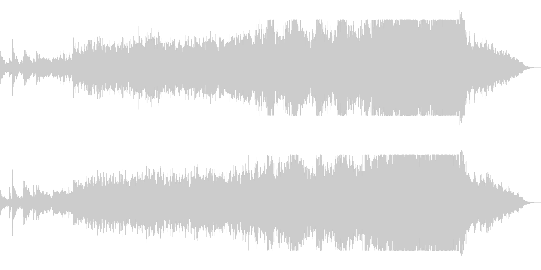 ハスキーな歌声と低音打楽器が特徴の楽曲の未再生の波形
