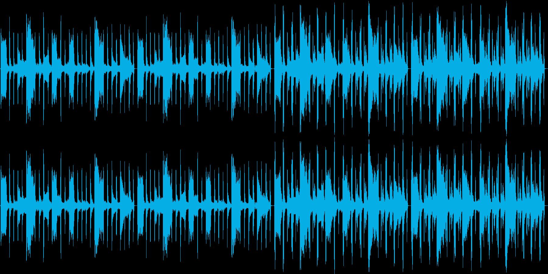 【のんびり/ギター/ワウカッティング】の再生済みの波形