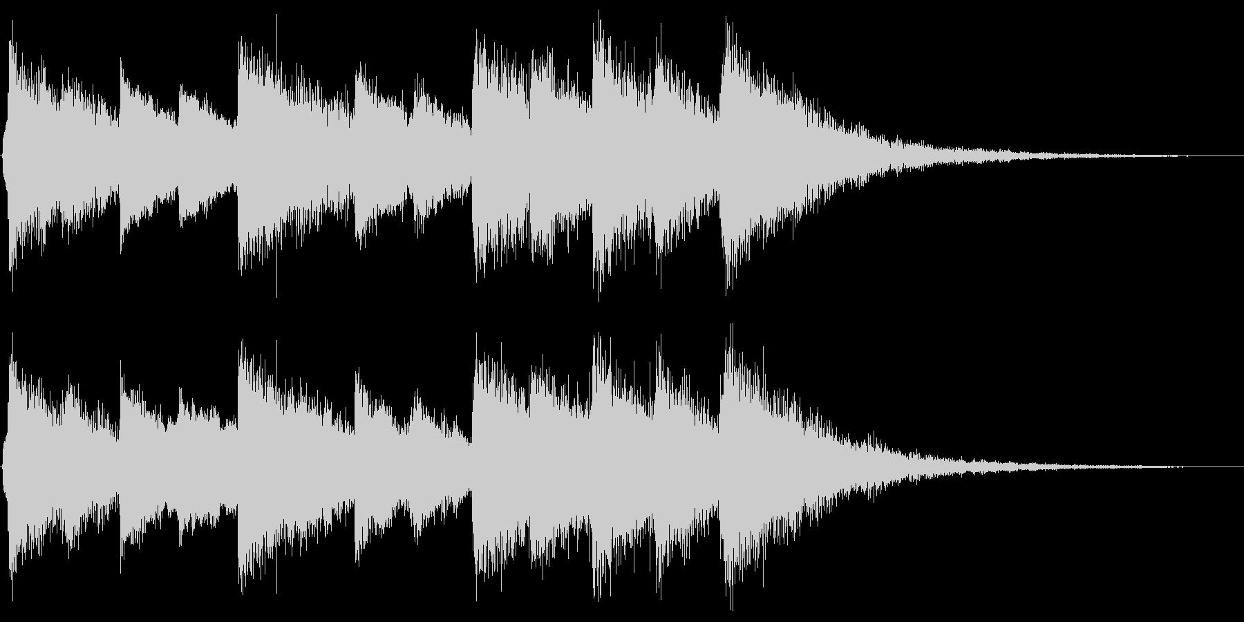 ベル系の素朴なジングルの未再生の波形