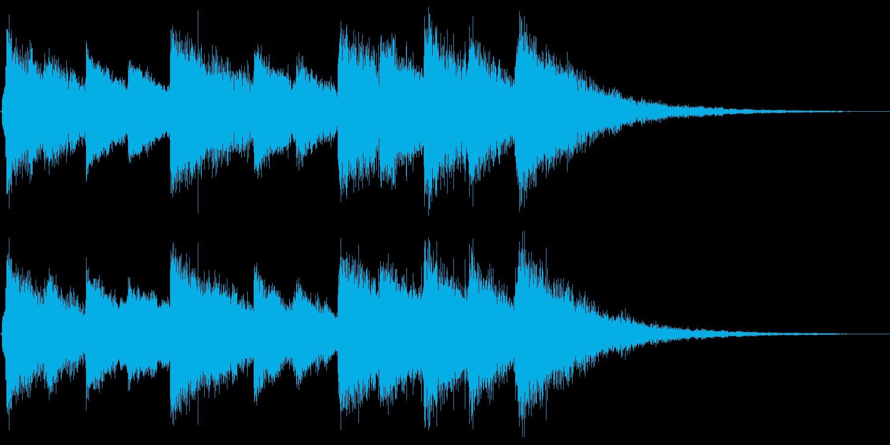 ベル系の素朴なジングルの再生済みの波形