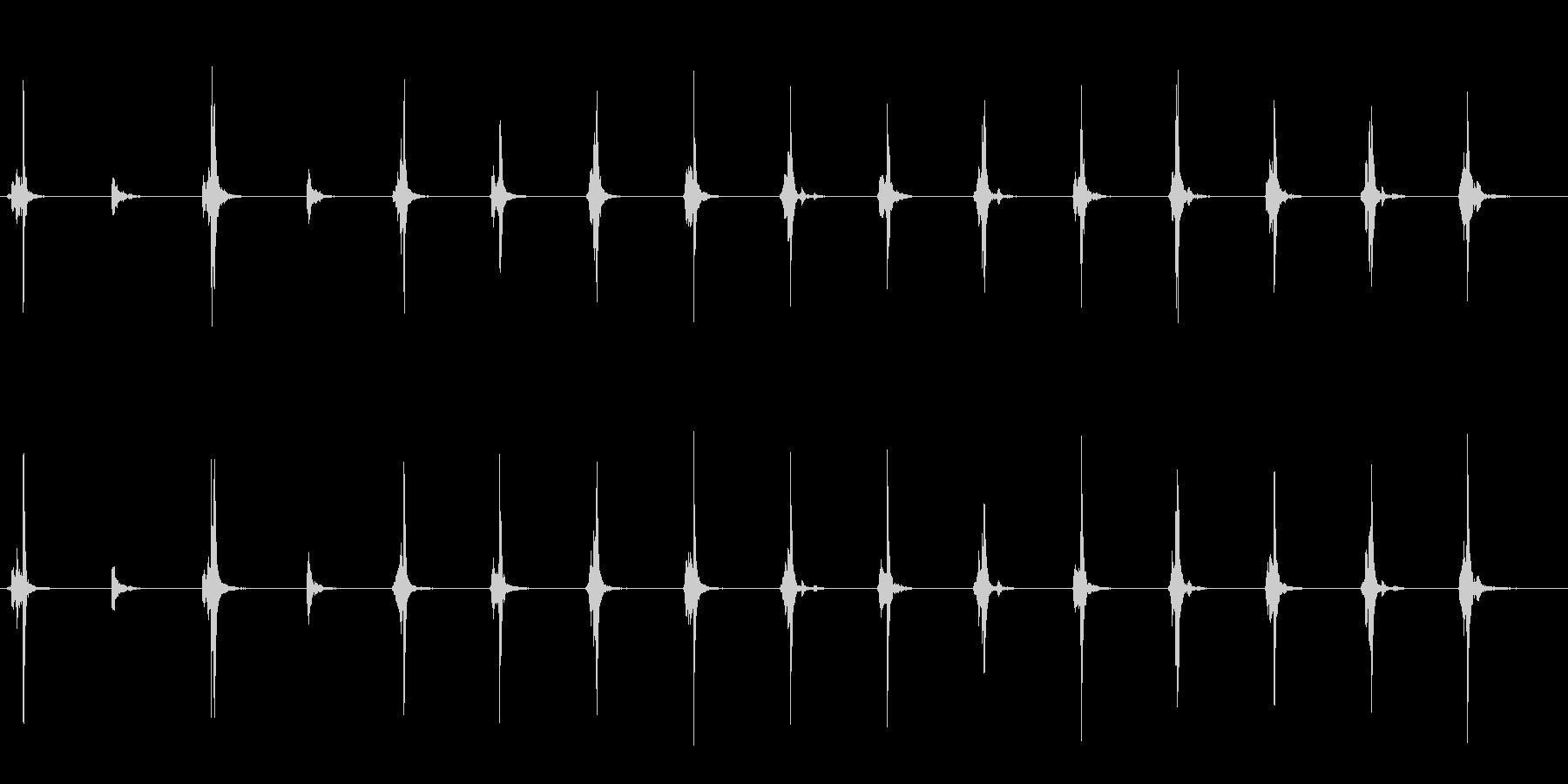 シンプルなタイマー音の未再生の波形