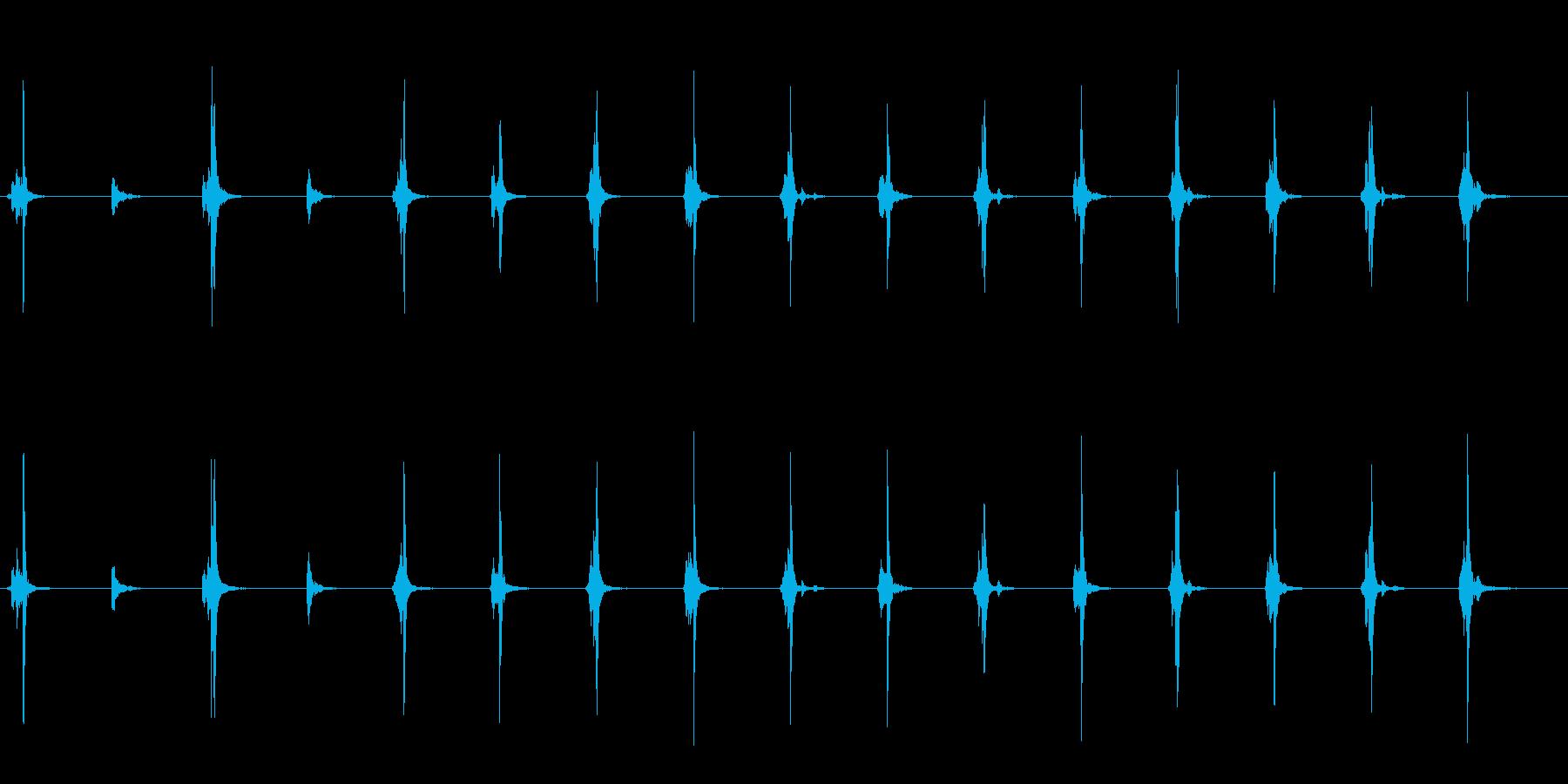シンプルなタイマー音の再生済みの波形