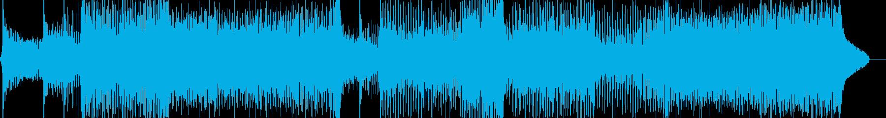 民族音階とサイケデリックなEDMの再生済みの波形