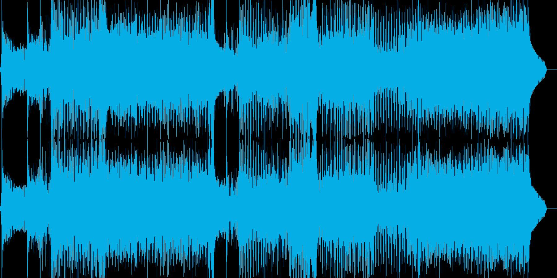 エスニックでサイケデリックなクラブEDMの再生済みの波形
