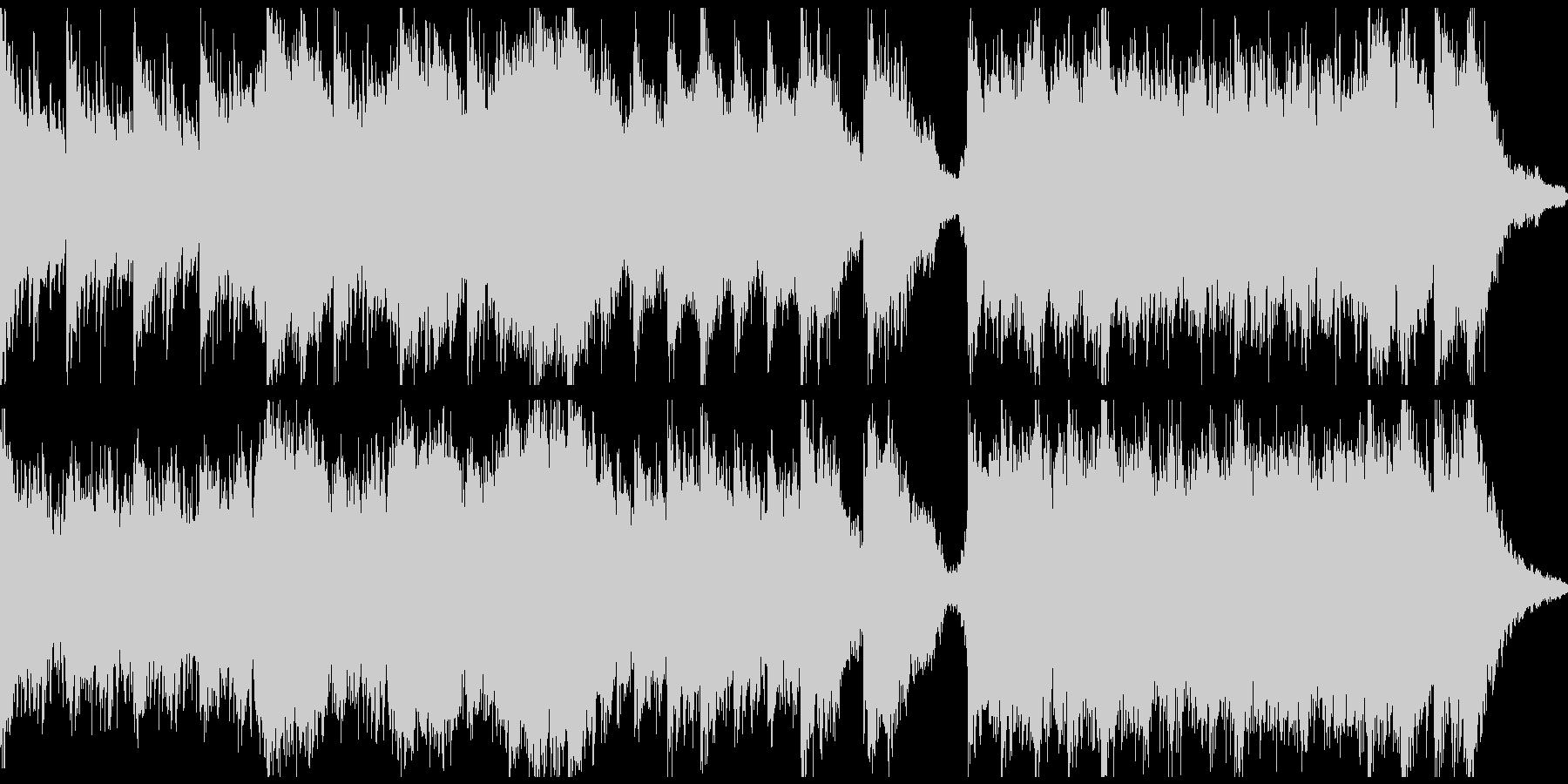 ピアノ&ホラーアンビエント(ループ)の未再生の波形