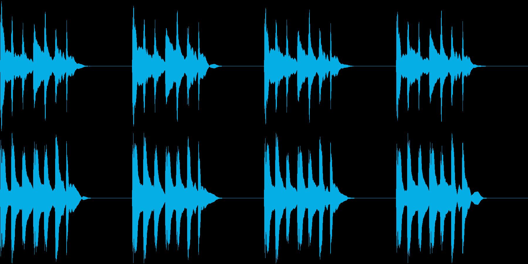 シンプル ベル 着信音 チャイム C16の再生済みの波形