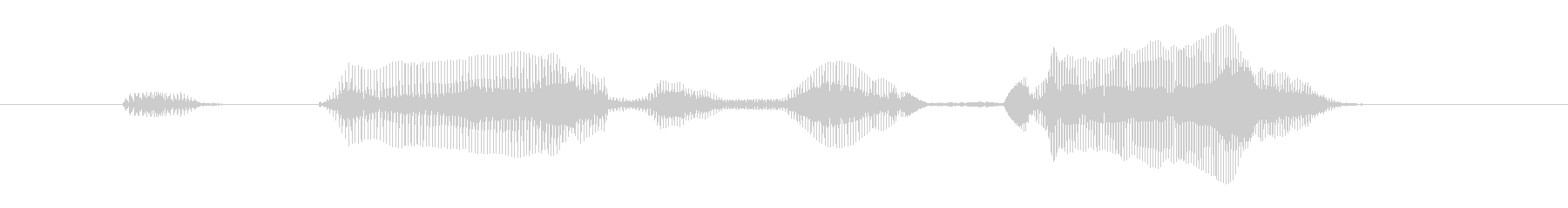 おかえりなさいの未再生の波形
