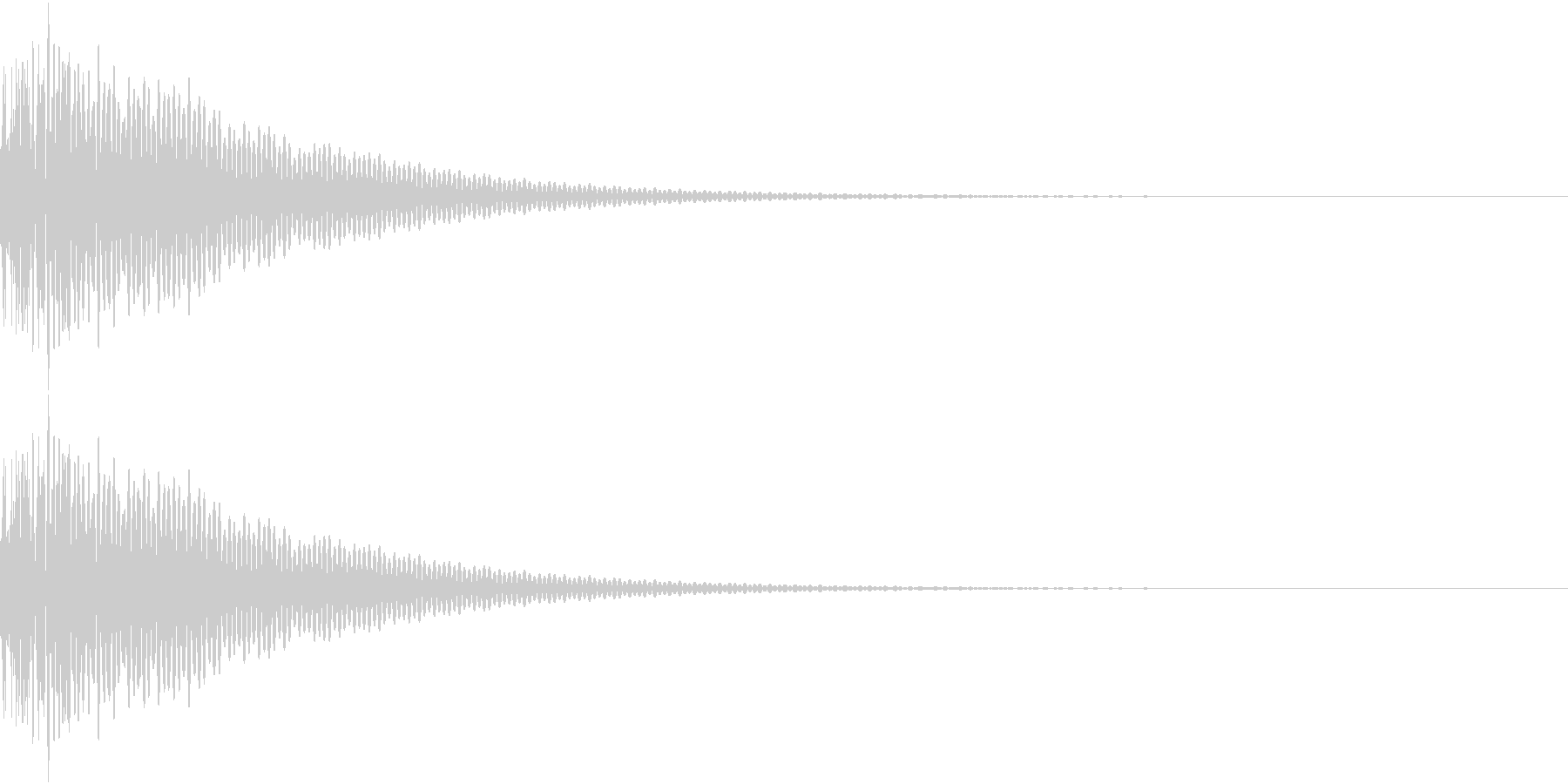 DTM Tom 14 オリジナル音源の未再生の波形