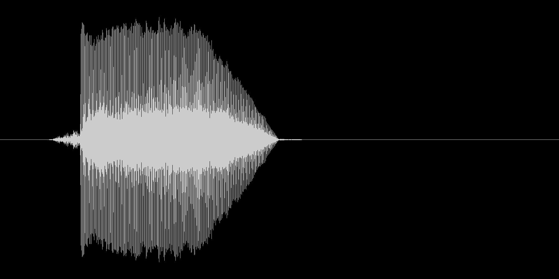 ゲーム(ファミコン風)レーザー音_023の未再生の波形