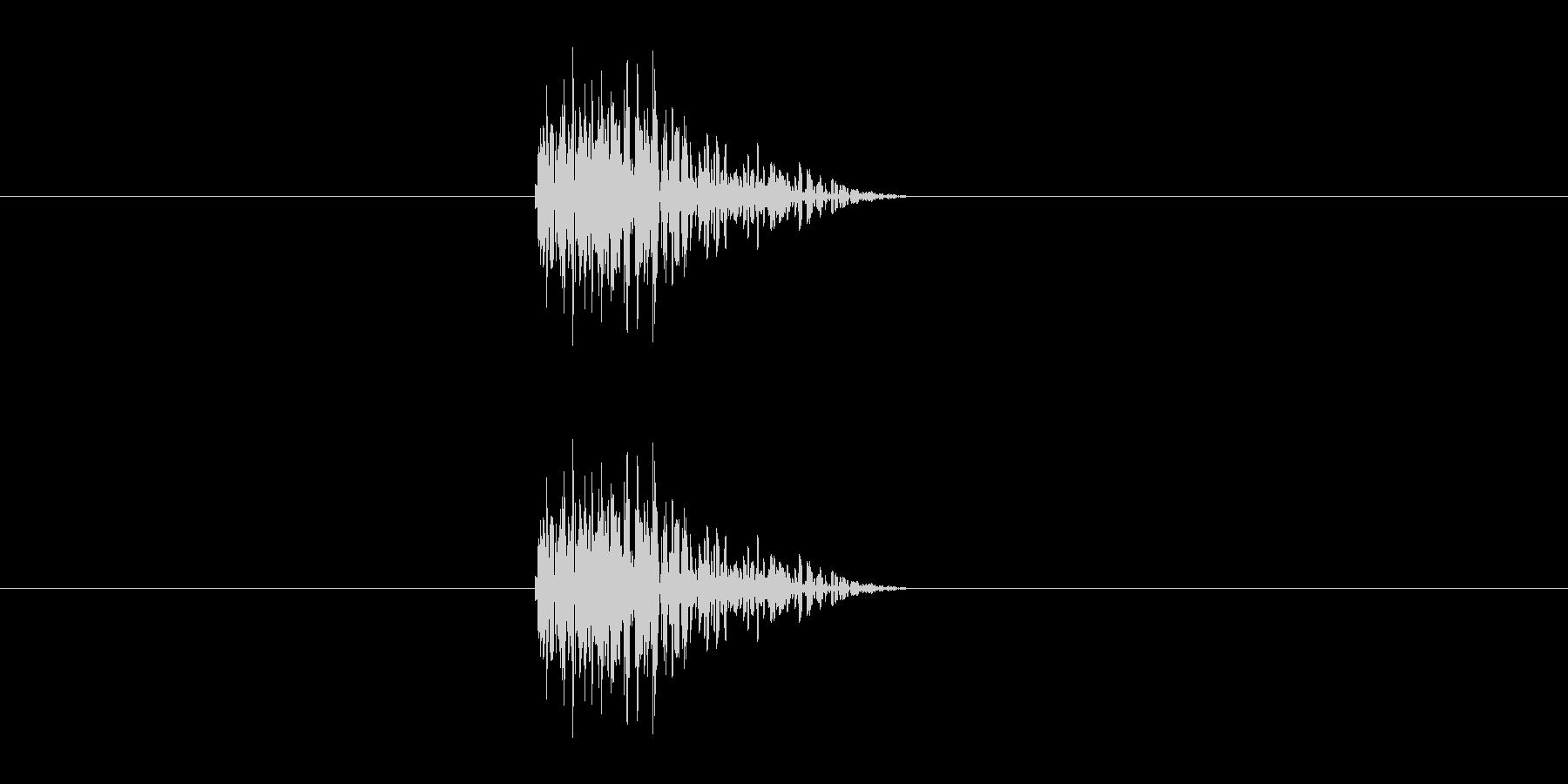 パン(障子や襖の開閉音)の未再生の波形
