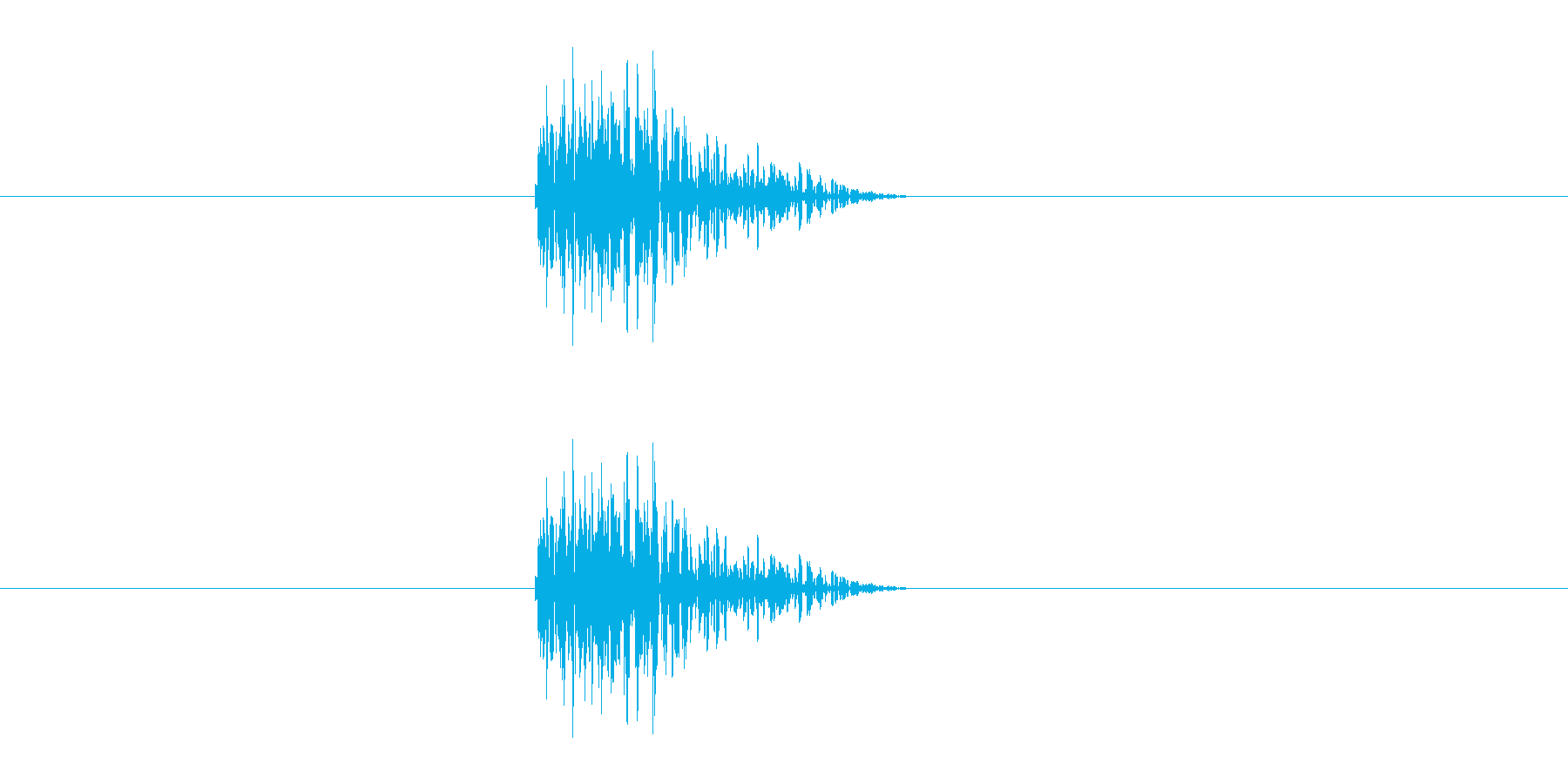 パン(障子や襖の開閉音)の再生済みの波形